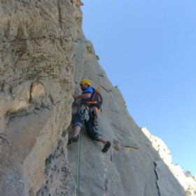 Multipitch rock climbing
